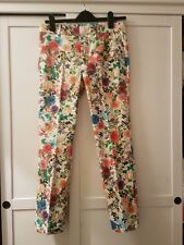 Zara Floral Printed Tailored Trousers Size SMALL BNWOT