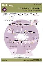 Bestfong Decals 1/32 LOCKHEED F-104G STARFIGHTER Sky Camouflage ROC Part 1