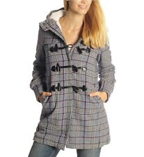 Pussy Deluxe Micro Plaid Teddy Coat Size Small
