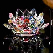 Crystal Glass Multi Lotus Flower Candle Tea Light Holder Spin system & Gift Box
