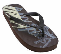 MENS BROWN TOE-POST COMFY FLIP-FLOP POOL BEACH CASUAL SANDALS SHOES SIZES 7-12
