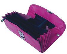 Leder Kellnerbörse pink, Kellner Börse pink, Börse für Kellner pink, 8 Fächer