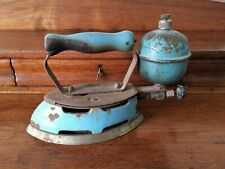Art Deco Era Coleman Gasoline Fueled Steam Clothing Iron in Blue ~ Model 4A