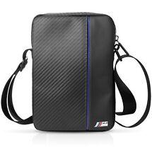 """BMW M Sport Carbon Carry Bag for Tablet 7""""/8"""" Designer Strap bag Black/Blue"""