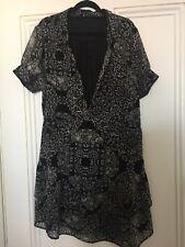 Portmans Dress Size 16 Monochrome Print Flattering Shape