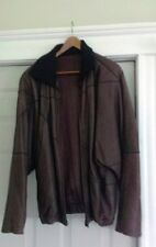 Vintage 1980's Adolfo Dominguez Spain Brown Leather Jacket – Size 50