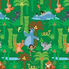 Fat Quarter Disney Jungle Book Scenic Sewing Cotton Quilting Fabric