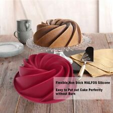 Big Swirl Shape Silicone Pastry Cake Mould Baking Tins Pan Butter Jello Mold