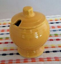 Vintage Fiestaware Yellow Mustard Jar Fiesta Condiment Jar