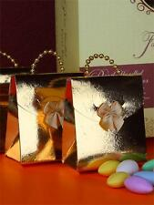 50 Gold Pearl handle Favor Boxes Weddings, Anniversaries, Bridal , all occasions
