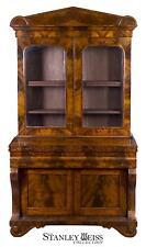 Swc-Mahogany Secretary w/ Gothic Embellishments c.1840