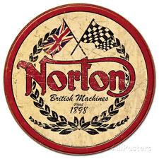 Norton - Logo Round Tin Sign - 12x12