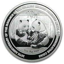 2009 China 1 oz Silver Panda BU (30th Anniversary, In Capsule) - SKU #54294