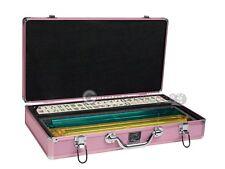 American Mahjong Set - Ivory Tiles (Modern Pushers) - Pink Aluminum Case