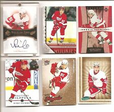 Valtteri Filppula 2005-06 UD TRILOGY ROOKIE CARD & OTHER ROOKIE CARDS AUTOGRAPH