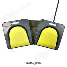 USB PC Double Foot Pedal Switch Foot Control Keyboard,Multimedia Key FS2016_USB2