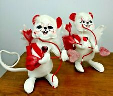 """2008 Annalee Valentines Day Cupid Mouse Heart Bow And Arrow 10"""""""