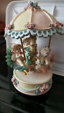 Vintage 1998 Large Dreamsicles Musical Floral Carousel #10596