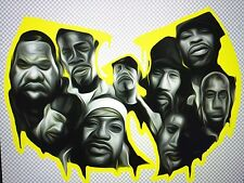 "Wu Tang Clan Decal Sticker  7.5""X 5.7"" (Method Man, Old Dirty Bastard, Rza, Gza)"