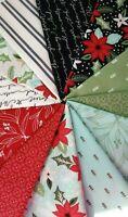 LITTLE TREE Lella Boutique Modern Christmas Fabric Moda Fabrics 12 fat quarters