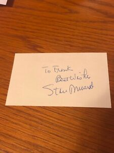 STAN MUSIAL - AUTOGRAPHED INDEX CARD HOF