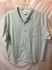 Columbia Men's Blue Green Striped Button Up Casual Shirt Size Sz 3X