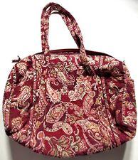 Vera Bradley Womens Vintage Red Paisley Duffel Bag Handbag