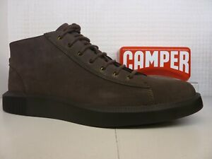Camper Bill K300275-001 Grey Nubuck Leather Lace Up Mens Boot Shoe