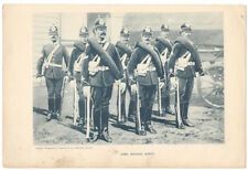 MILITARY Army Service Corps Soldiers Antique Photographic Print c1900 by Gregory