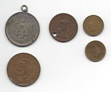 Lot 5 Estados Unidos Mexican Coins, 1944-1963; see below for denominations