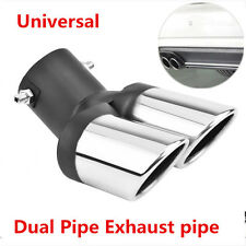 63mm Car Modification Grilled black 1to2 2- Pipe Exhaust pipe Tip Muffler cover