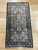 Vintage Antique Small Oriental Runner Rug w Floral & Patterned Design Decoration