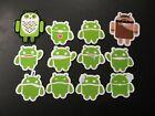 ANDROID twelve 12 STICKER SET lot robot logo google for laptop decal phone