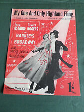 """My One And Only HIGHLAND FLING"" original vintage sheet music-Astaire & Rogers"