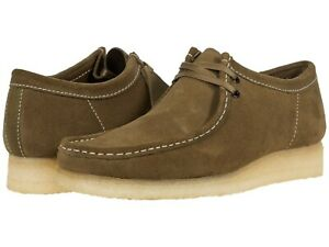 Men's Shoes Clarks Originals WALLABEE Lace Up Suede Moccasins 55399 KHAKI