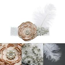 Baby Infant Headband Flower White Feather Hairband For Photography Props
