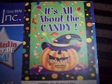 """Custom Decor, Inc Flag 28"""" x 40""""   """"It's All About The Candy"""" Holloween"""
