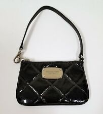 MICHAEL KORS HAMILTON QUILT PATENT BLACK LEATHER WRISTLET,CLUTCH,WALLET