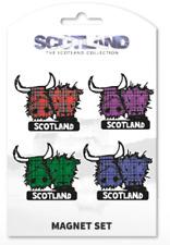 Scottish Tartan Highland Cow Fridge Magnet Set Kitchen Home Decor