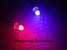 1000pcs 3mm 3Pin Diffused Red & Blue Light Common Anode Led Diode