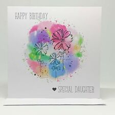 Happy Birthday | Special Daughter | Birthday Greeting Card | Personalise Name
