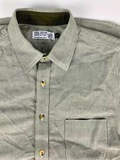 Rogue Territory Oxford Cloth Canvas Selvedge Work Shirt sz L Khaki Green