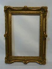cadre doré stuqué Louis XV à oreille 2 paysages 25 x 17cm (15)