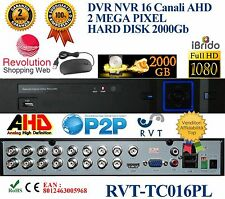 DVR 16 CANALI IBRIDO ANALOGICO/DIGITALE AHD/DVR/NVR/HVD OUT  VIDEO BNC HD 2 TERA