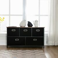 2/4/5/6/7 Drawer Chest Dresser Clothes Storage Bedroom Furniture Cabinet Black