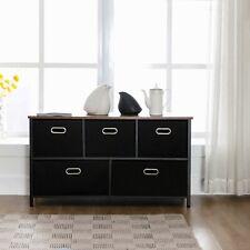 2/4/5/6/7 Drawer Chest Dresser Clothes Storage Bedroom Furniture Cabinet Black