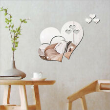 3D Mirror Wall Sticker Removable Love Hearts Decal Home Room Art Mural Decor DIY