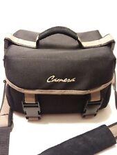 Camera Bag Universal Rugged Canvas~Adjustable Padded Dividers-Mesh Pocket~Black