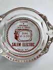 VTG SALEM ELECTRIC Salem, WI  GLASS ASHTRAY TV & Appliances Sales & Service photo