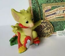"""Christmas Skates"" Whimsical World Pocket Dragons Real Musgrave w Box and orname"